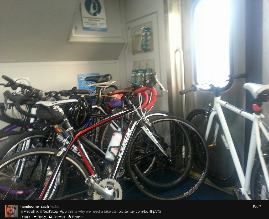 Bikes On Metrolink only three bicycles