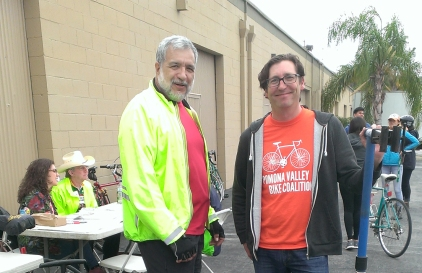Ernie and John at the ABC Quick check station